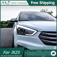 AKD Car Styling For Hyundai Creta Headlights 2014 2015 IX25 LED Headlight LED DRL Bi Xenon