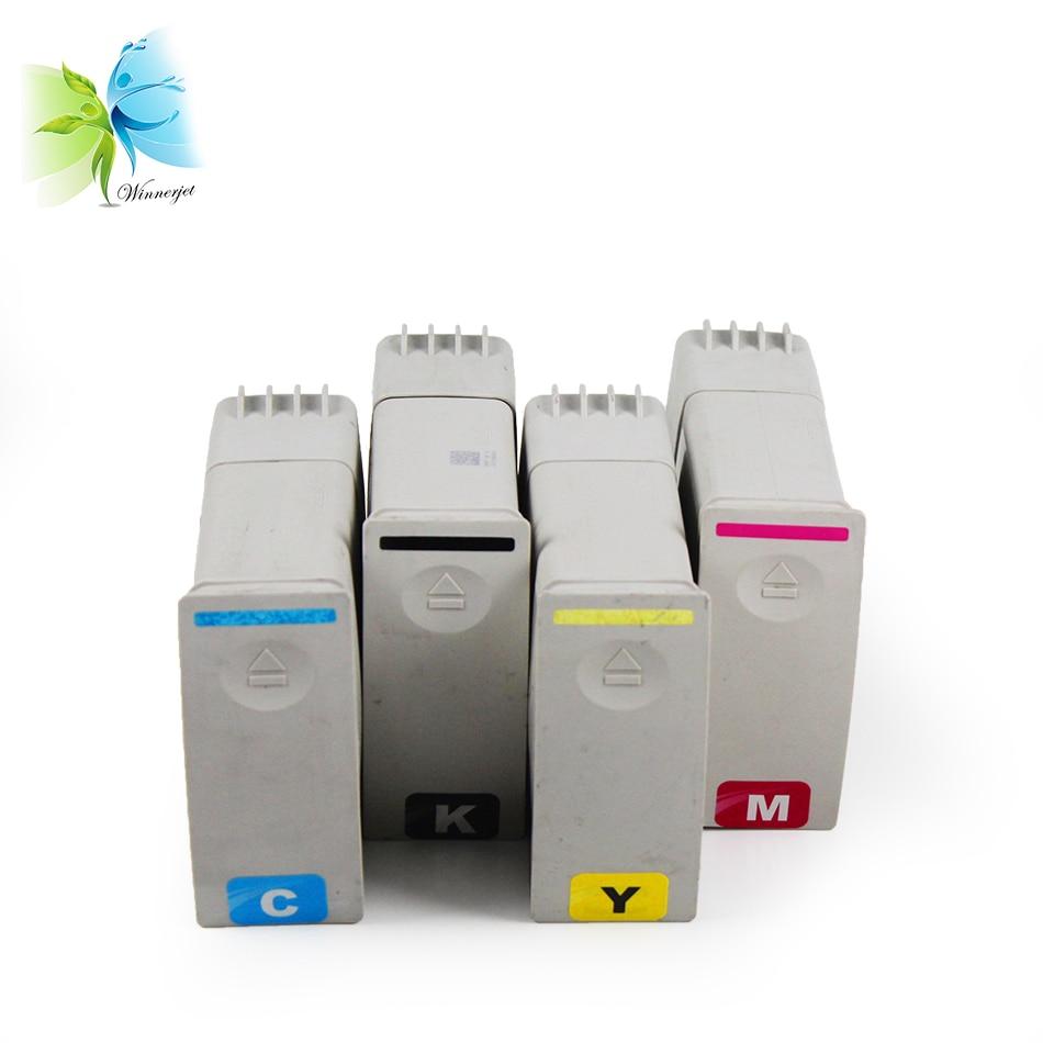 4 colors 80# 80 pigment ink cartridge for HP designjet 1050 1055 1050cm 1055cm plus printer ink cartridge