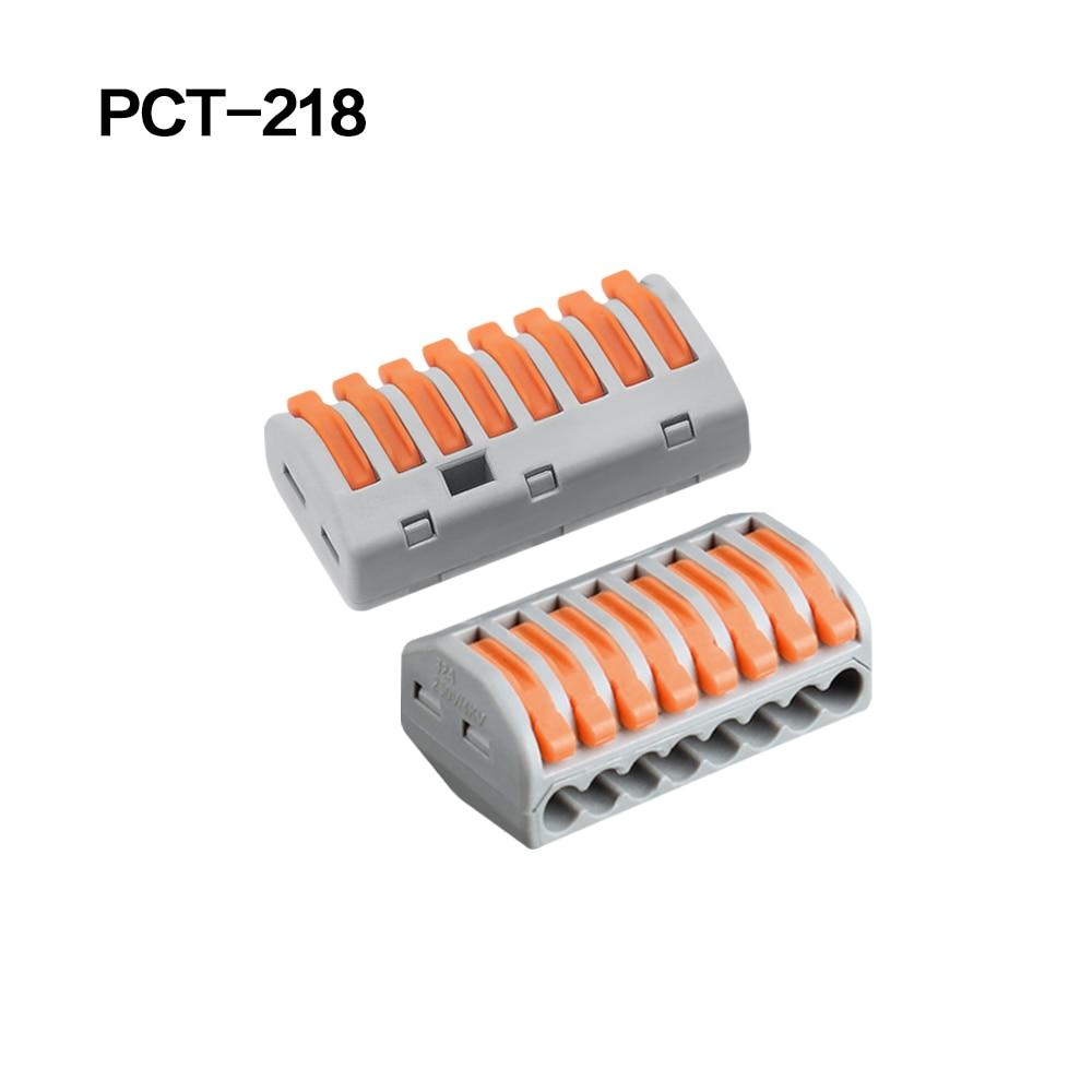 100/20/10 шт. 222-412 222-413 222-415 клеммы соединители 0,08-2,5 мм мини-разъем провода Проводник винторезный станок сплиттер - Цвет: 222-418