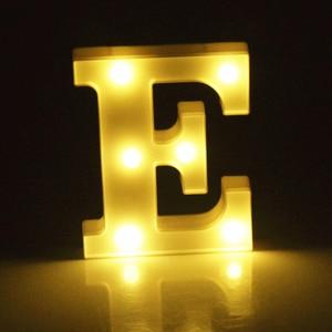 Image 5 - Luminous 26 ตัวอักษรภาษาอังกฤษตัวอักษรไฟLed Creative Ledโคมไฟกลางคืน 16 ซม.โรแมนติกห้องจัดงานแต่งงานตกแต่งตัวอักษร