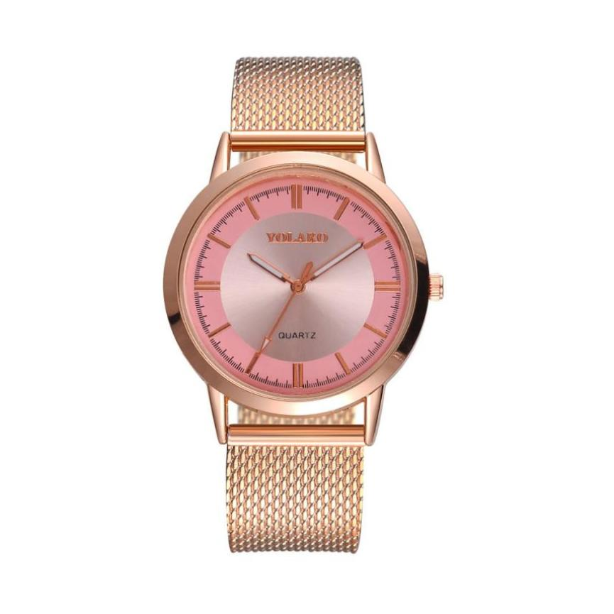Quartz Women Watch Rose Gold Alloy Women Wrist Watch Elegant Ladies Watches Relogio Feminino Reloj Mujer montre femme hot sale relogio feminino fashion women watches quartz retro rainbow design leather band analog alloy quartz wrist watch montre femme