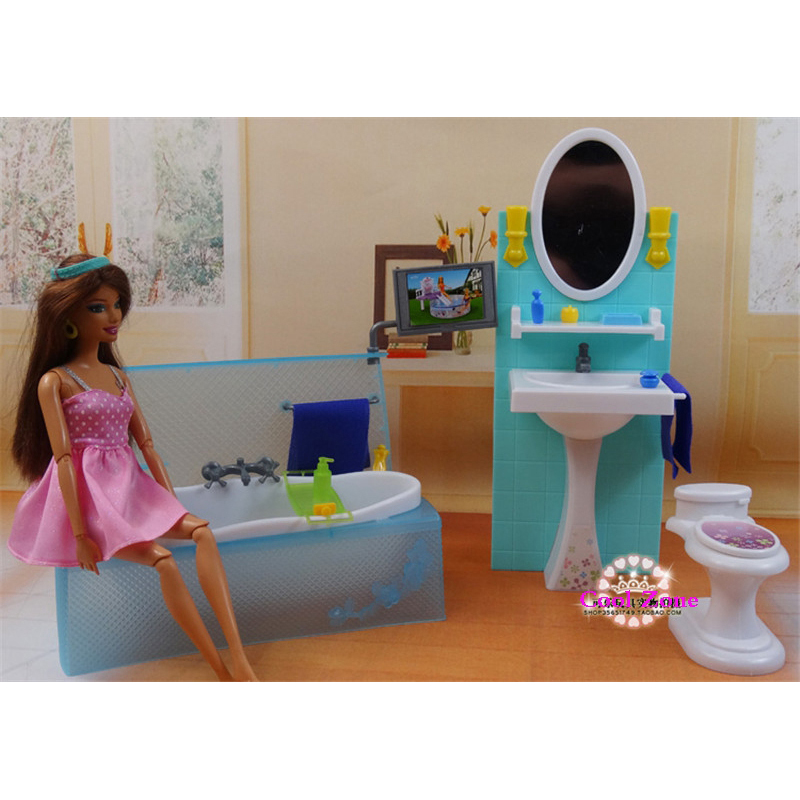 ФОТО Miniature Furniture My Fancy Life Bathing Fun for Barbie Doll House Best Gift Toys for Girl Free Shipping