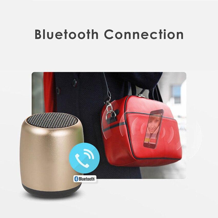 Aimitek Mini Wireless Speaker Small Pocket Size gold-4