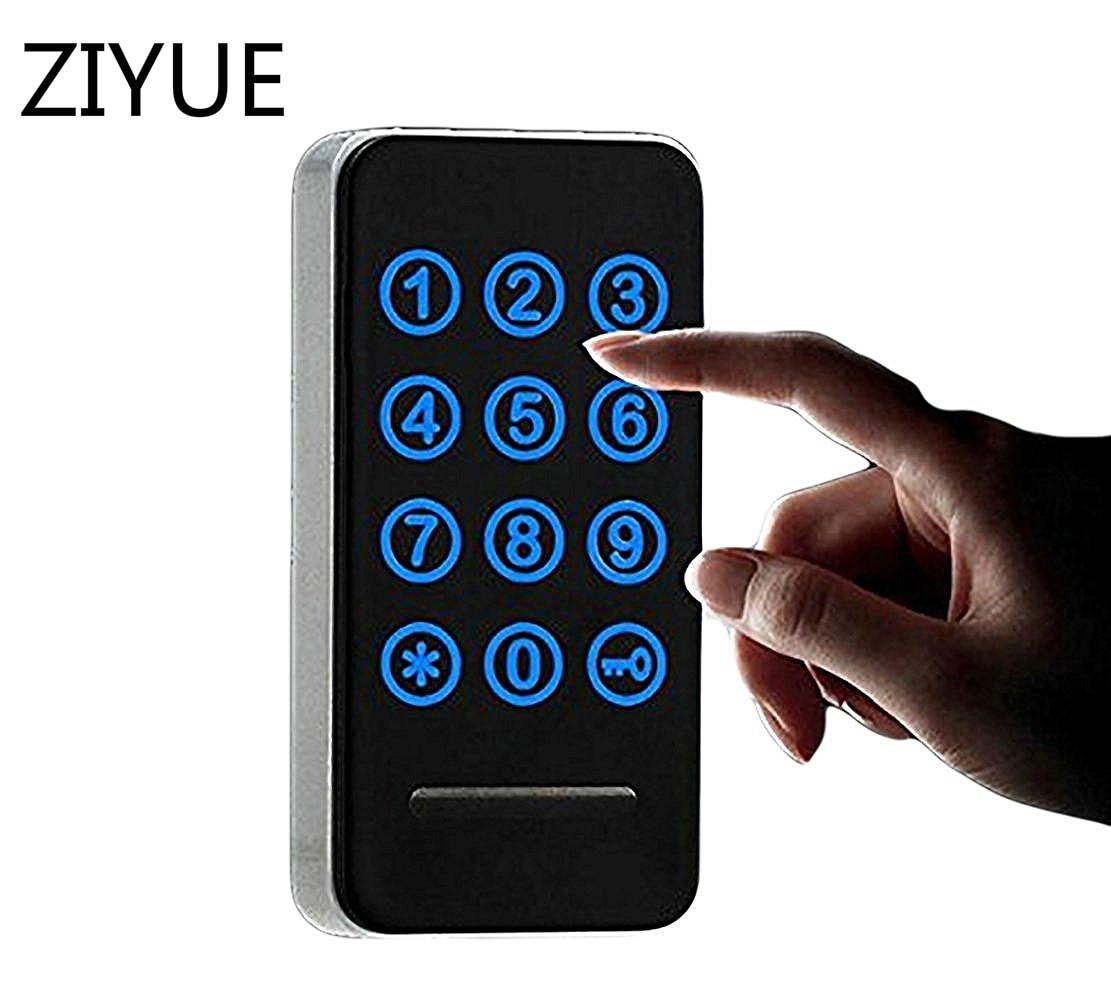 Digital Smart  LED Panel Touch Keypad Password Electronic Code Number Cabinet Locker Lock for Locker or Drawer metal digital electronic password keypad number cabinet code locks intelligent cabinet lock
