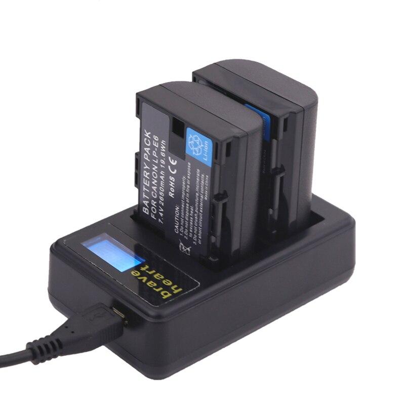 Batterien 2x Decodiert 1865 Mah Bateria Lp E6 Lpe6 Lp-e6 Kamera Batterie Lp-e6n Lp E6n Für Canon Dslr Eos 60d 5d3 7d 6d 70d 5d Mark Ii Iii