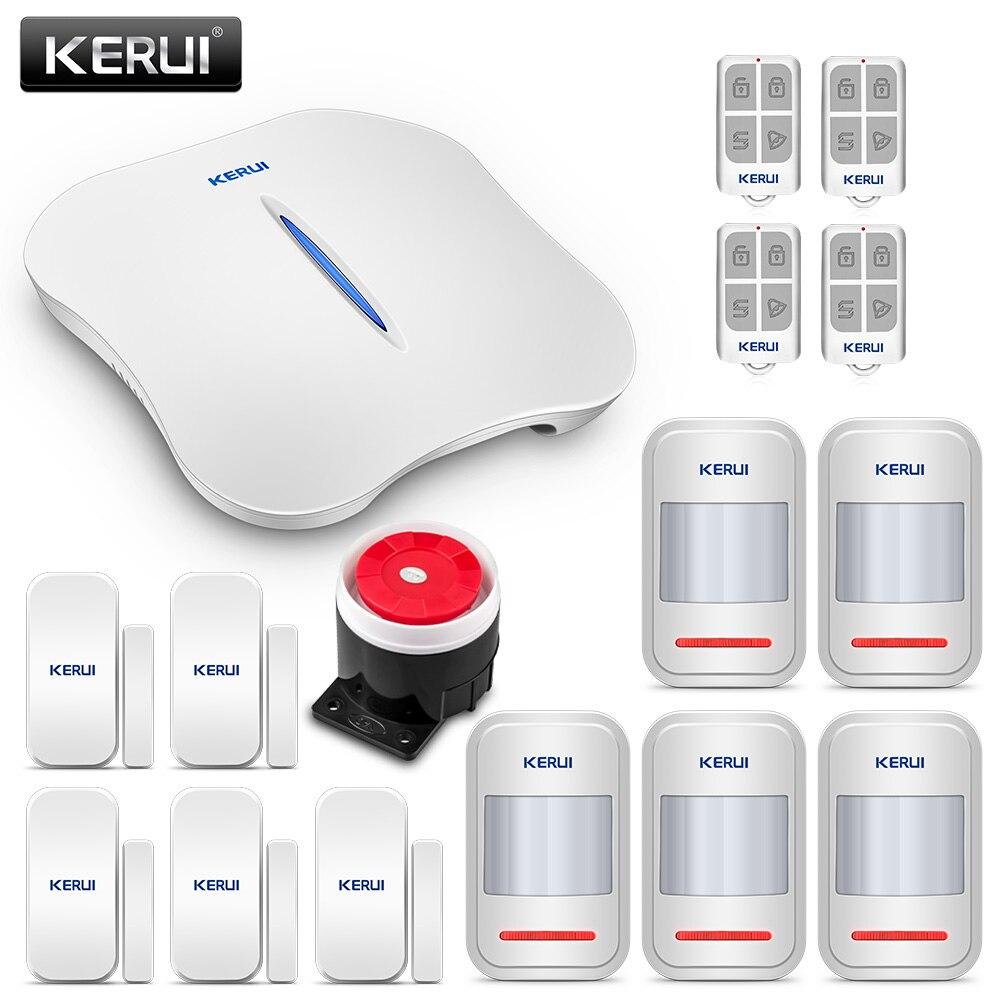 Kerui 8218g Dual-network Gsm Pstn Home Alarm Security System High Performance Cpu With Anti-pet Motion Smoke Sensor Door Magnet Alarm System Kits