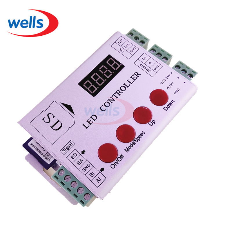 led controller hc202s sd card for ws2801 ws2811 lpd6803. Black Bedroom Furniture Sets. Home Design Ideas