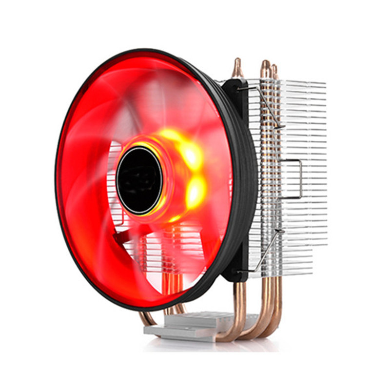 120mm CPU Radiator 4Pin Neon LED Light CPU Cooling Fan 3 Heatpipe Cooler Aluminum Heatsink For Inter AMD PC Computer 4 pin sleeve bearing blue led light computer pc fan heatsink cpu cooler cooling fan heatsink