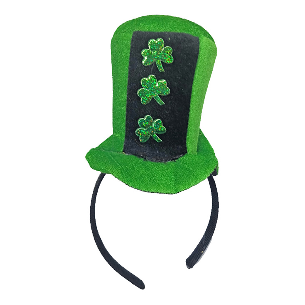 New Fashion Headband Green Leprechaun Top Sequin Shamrock Hat Hair  Accessories Props Dress Up Head Buckle St. Patricks Day Party-in Women s Hair  Accessories ... bbe24cbbbe31