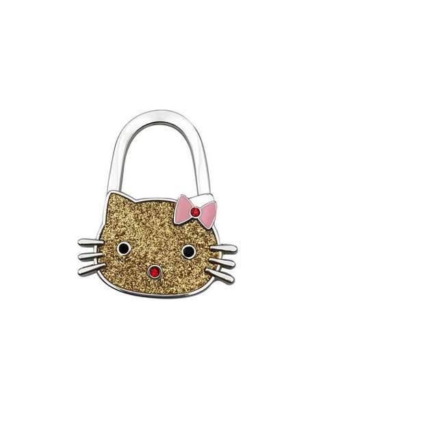 2e507862aa47 10pcs lot NEW Cartoon hello kitty bag hook handbag hook Folding foldable  Handbag Purse
