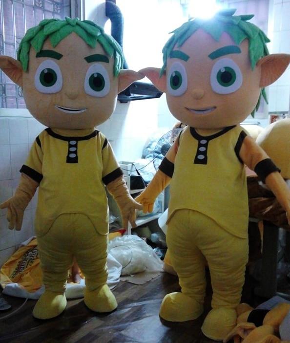 275 67 Caillou Petit Garçon Jeune Homme Costume Mascotte Avec Robe Jaune Pantalon Jaune Adulte Personnage De Dessin Animé In Costumes Animés Pour