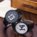 Amantes 1314 de Cuero Correa de Relojes de Marca de Moda Unisex Relojes de cuarzo Horas Reloj de Las Mujeres Relojes Relogio Relojes Montre Femme