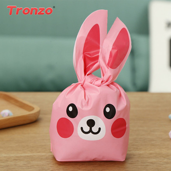 Online shop tronzo easter decorations for home bunny ear gift bags tronzo 50pcs plastic easter rabbit ear cookie bags wedding gifts for guests bunny duck gift bag negle Choice Image