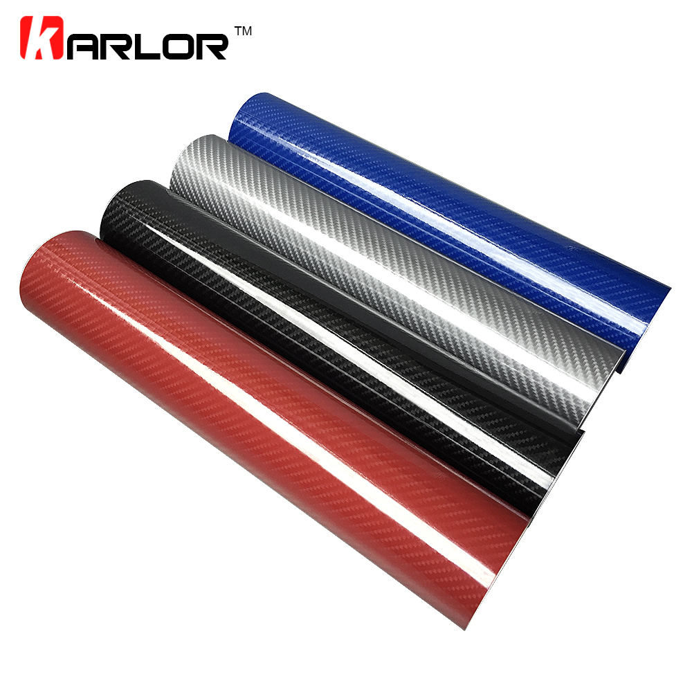 High Glossy 30CM 152CM 5D Carbon Fiber Vinyl Film Auto Wrapping Film Motorcycle Tablet Car Styling Stickers with Air Free Bubble