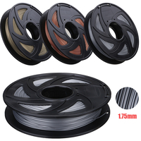 Aluminum/Bronze/Copper Color 1.75mm 0.5kg PLA Flexible Filament For RepRap 3D Printer Materials