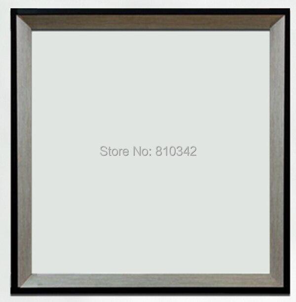 moderno marco de madera para pinturas al leo y grabados plata y negro marco de fotos