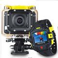 Actoin Camera 1080P 60FPS 16MP HD Gopro Hero 2 Style Wifi Sports Cam with Watch Remote Control 145D Wide Lens 60m Waterproof
