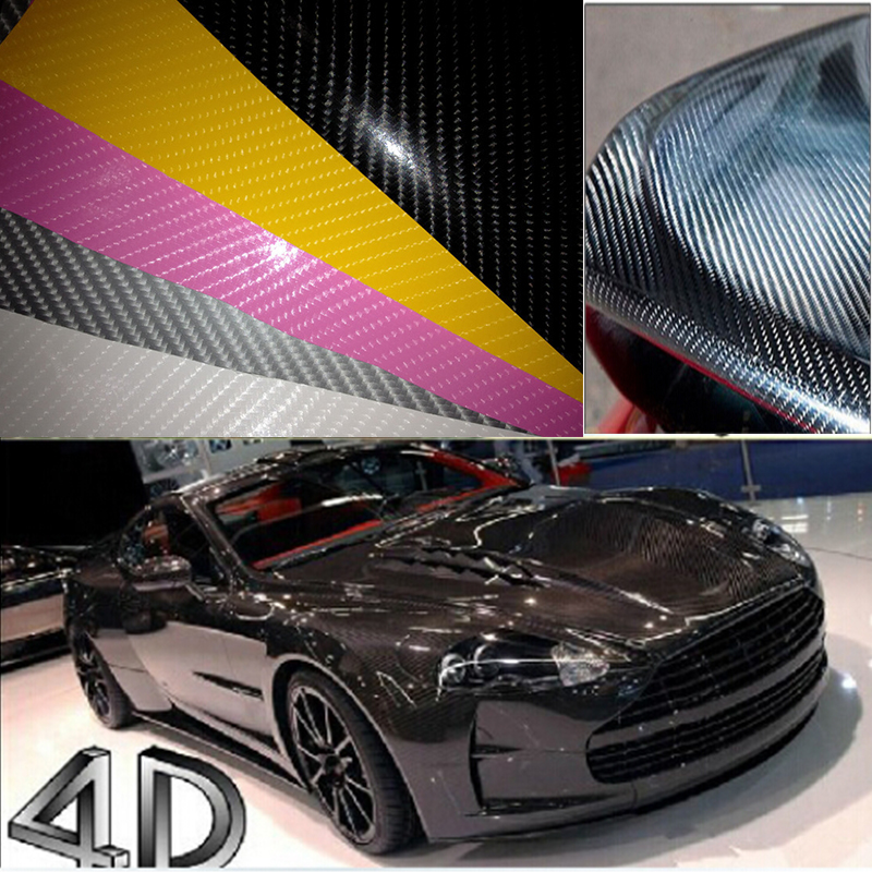 4d Car Carbon Fiber Vinyl Film With Air Free Bubble