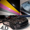 4D Car Carbon Fiber Vinyl Film With Air Free Bubble 50x200CM Car Sticker Auto Wrapping Vinyl Wrap Foil Car Change Colors Covers