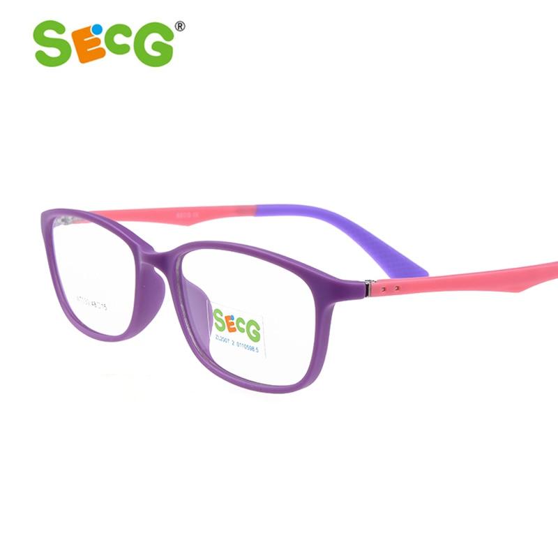 SECG Fashion Kids Prescription Glasses Frame Cute Flexible Soft Spring Hinge Children Myopia Eyeglasses Frame Gafas Spectacles