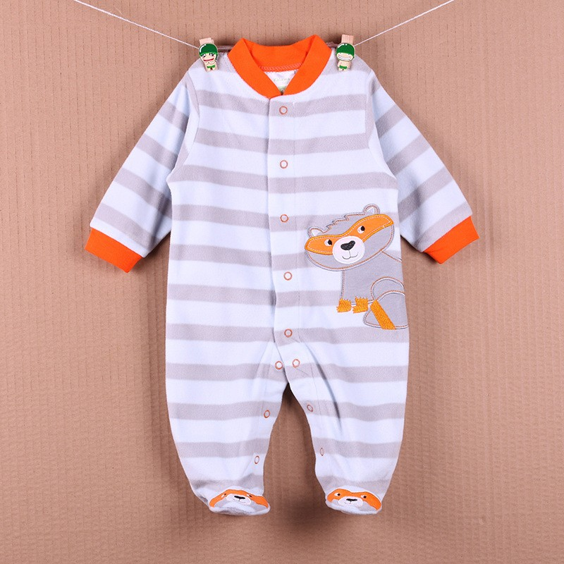 New Arrival Baby Footies Boys&Girls Jumpsuits Spring Autumn Clothes Warm Cotton Baby Footies Fleece Baby Clothing Free Shipping (29)