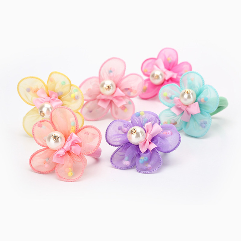GG & MM Korean hair ornaments headdress wholesale handmade cloth flower hairpin duckbill folder