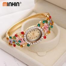 Luxury Crystal Flower Bracelet Watch