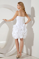 White Cocktail Dress short spaghetti strap prom dresses crystal beaded evening party dress cack birthday dress robe de soiree