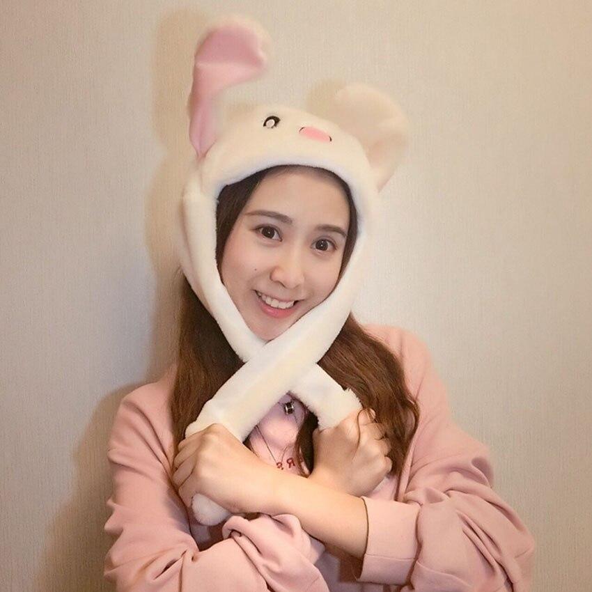 Новый стиль привлекательные дети мягкие Pinch перемещение уха кролика водителя магнит Hat танец плюшевые игрушки для подарка