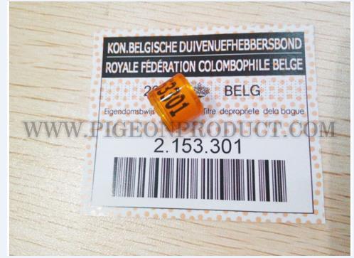 BELG 2017 (BE17) 100 st met kaarten 8mm gratis verzending Aluminium met Plastic Pigeon Ring