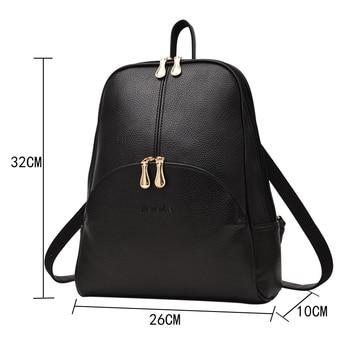 NEVENKA Soft PU Leather Backpack Women Casual Style Backpacks Mochila Feminina Bags for Women 2020 2