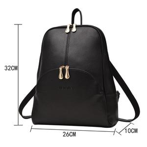 Image 2 - NEVENKA Women กระเป๋าเป้สะพายหลังหนังกระเป๋าเป้สะพายหลัง Softback กระเป๋ายี่ห้อชื่อกระเป๋า Preppy สไตล์ลำลองกระเป๋า pack วัยรุ่นกระเป๋าเป้สะพายหลัง Sac