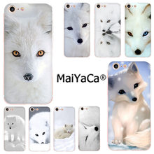 MaiYaCa Snow white fox tampa do telefone de Alta Qualidade para o iphone 11 pro 8 7 66S Plus X 5S SE XR XS XS MÁXIMA Cobertura(China)