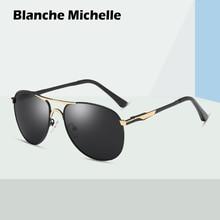 цена на Blanche Michelle Brand classic Pilot Sunglasses Men Polarized UV400 Men's Sun Glasses Male Driving oculos gafas de sol hombre