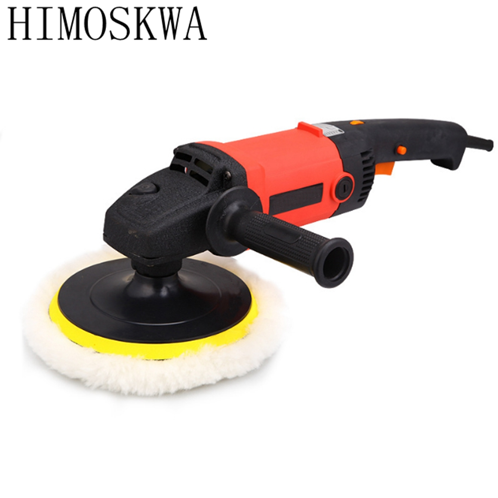 HIMOSKWA Car Polisher 1200W Variable Speed 3000rpm Car Paint Care Tool Polishing Machine 220V floor polishing machine