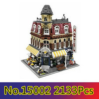 CX 15002 2133Pcs Model building kits Compatible with Lego 10182 Cafe Corner Model Building 3D Bricks figure toys for children