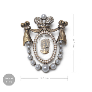 Image 5 - Amorita boutique Lady head design pins court vintage brooch