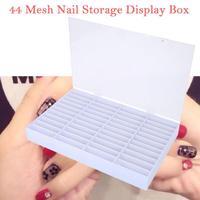 Newly 44 slots Nail showing shelf Nail Art Training Practical Tips Display Holder Organizer Storage Box Dropship Freeship 30p119