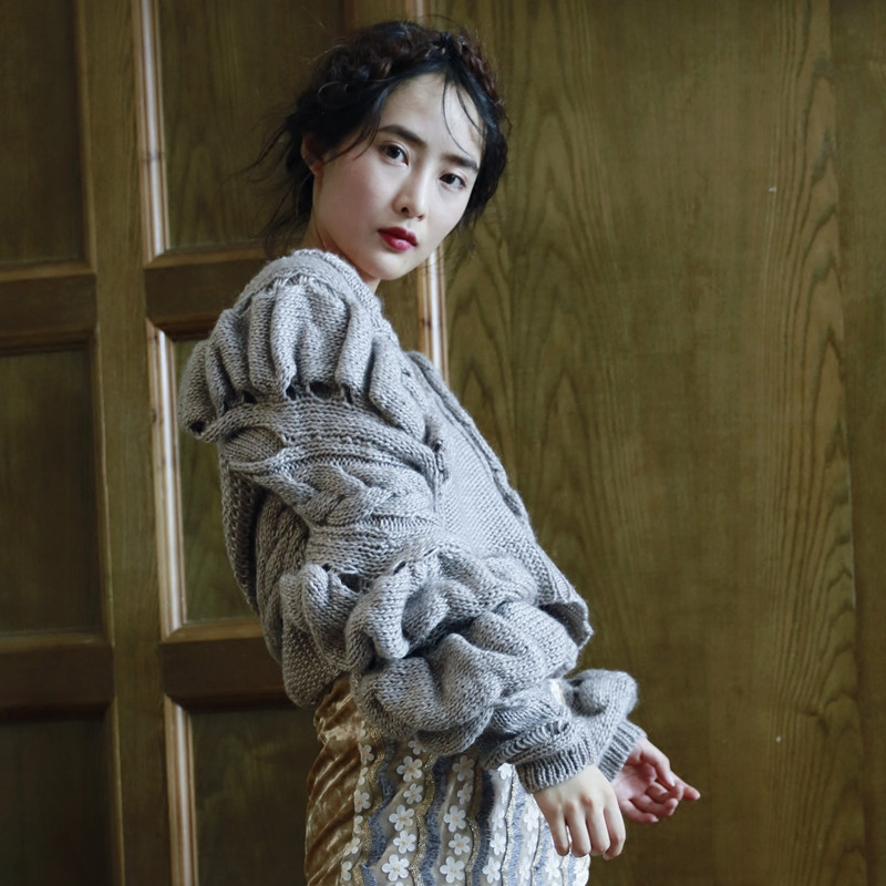Haute Conception Femmes D'origine Automne Chinoiserie Laine Qualité Pull Lynette's Printemps Gris En F8qIwy7x