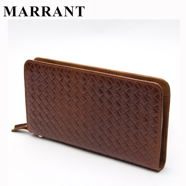 MARRANT Men Clutch Bag Male Purse Genuine Leather Wallet Men's Wallets Clutch Long Design Wallet Phone Card Holder Purse Handbag