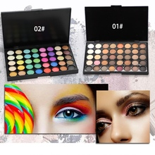 VERONNI Matte Eye Shadow Palette Professional 40 colors Pigments MakeUp Eyeshadow Glitter Waterproof Nude