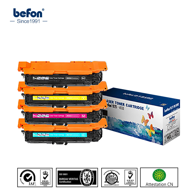 befon CE260X CE261A CE262A CE263A 260 261 262 263 Color Toner Cartridge Compatible for HP 4025dn 4525 4540 chinese painting book how to paint birds flowers in water village asian ink art