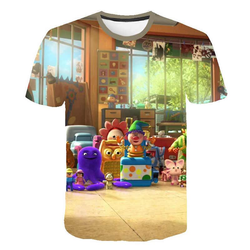 Новинка; Лидер продаж распродажа игрушка История 4 3D Футболка с принтом модные летние шорты с длинными рукавами с персонажами из мультфильмов футболка модные повседневные футболки для девочек и мальчиков детская одежда
