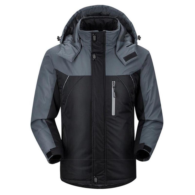Jacket Men Winter Thick Fleece Waterproof Outwear Military Jackets Plus size 5XL Men's Windbreaker Army Parka Raincoat  Coats