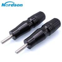 Nordson CNC Frame Exhaust Slider Crash Pad Protector For Yamaha FZ1 2006 2014 FZ6 2006 2010 FZ8 2011 2015 Kawasaki Z900 17 18