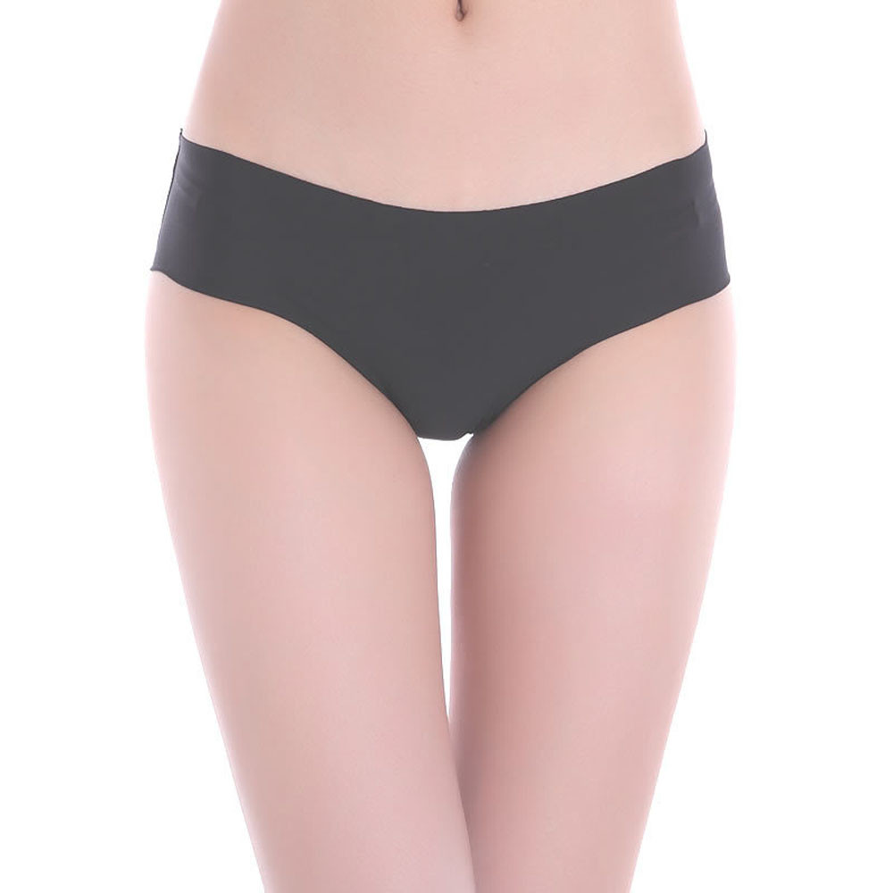Women's solid underpants Female Invisible Underwear Thong Cotton Soft Spandex Gas Seamless Crotch Ladies Sexy Lingerie   Panties