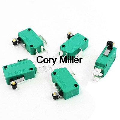 Switches 250vac 16a Spdt 1no 1nc 3 Pins Short Hinge Roller Lever Microswitch Green