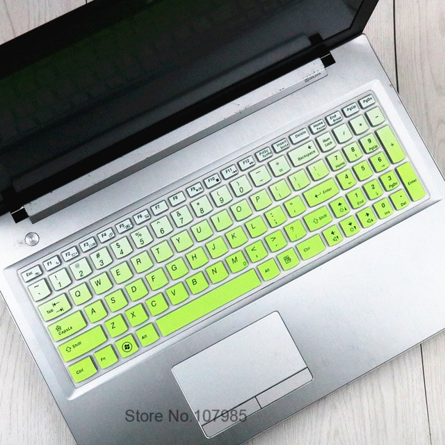 Black with Clear Saco Chiclet Keyboard Skin for Lenovo G50-70 Notebook 59-436421 15.6-inch Laptop