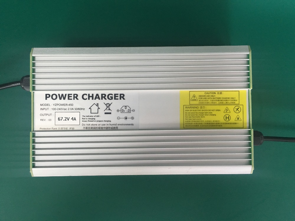 Built-in Fan 67.2V 4A/5A/6A Aluminum Lithium Battery Charger Universal for 16-cell Li-on Power Tools Electric Motorcycle Ebikes 30a 3s polymer lithium battery cell charger protection board pcb 18650 li ion lithium battery charging module 12 8 16v