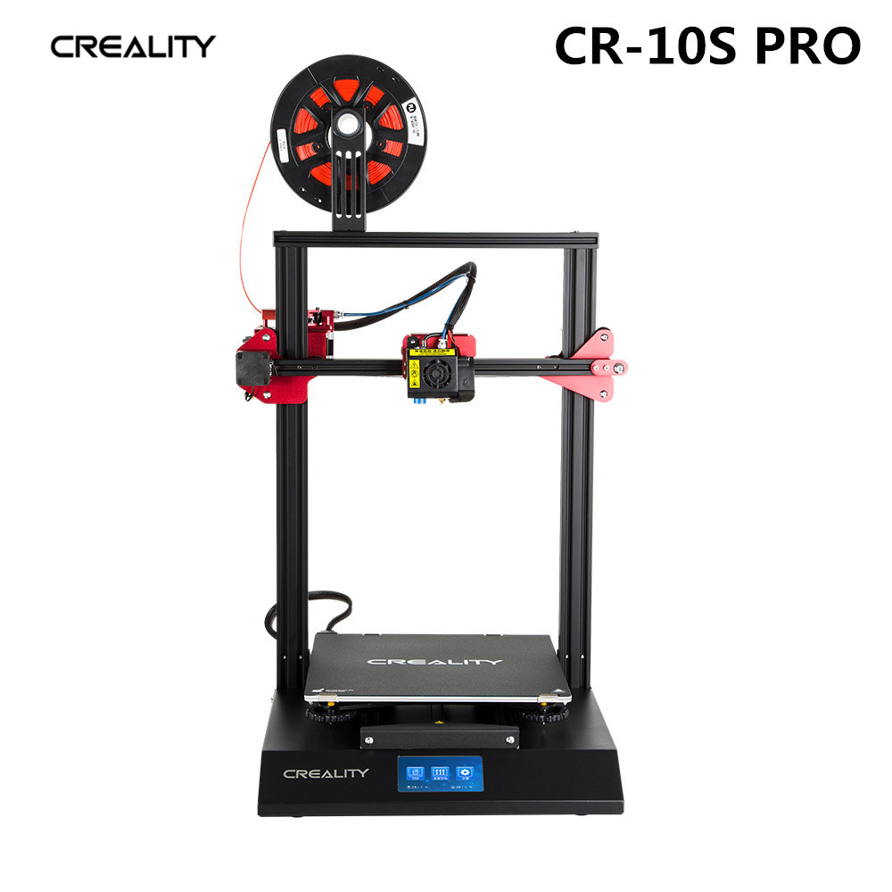 CRÉALITÉ 3D CR-10S Pro Tactile LCD V2.4.1 Carte Mère Double Extrusion Reprendre filament d'impression Détection Auto Nivellement Funtion